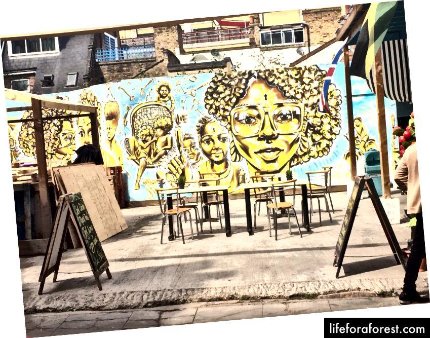 En jamaicansk restaurant - Utekunsten vakte alles oppmerksomhet
