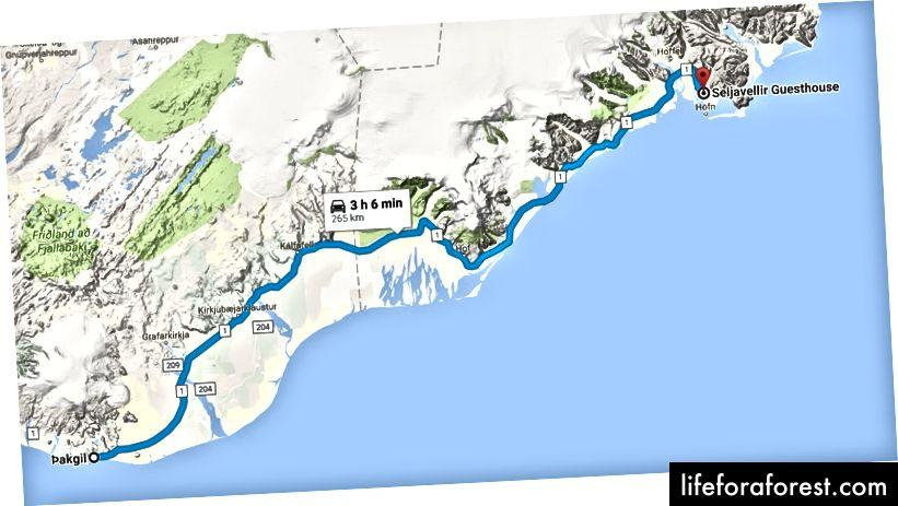Ngày 2: Thakgil Cottage đến Seljavellir Guesthouse (~ 3 giờ lái xe)