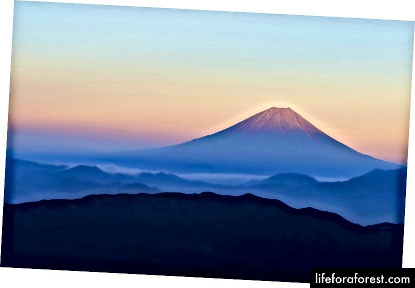 Mount Fuji. Zdroj obrázku: Eiji Kikuta přes Pixabay.