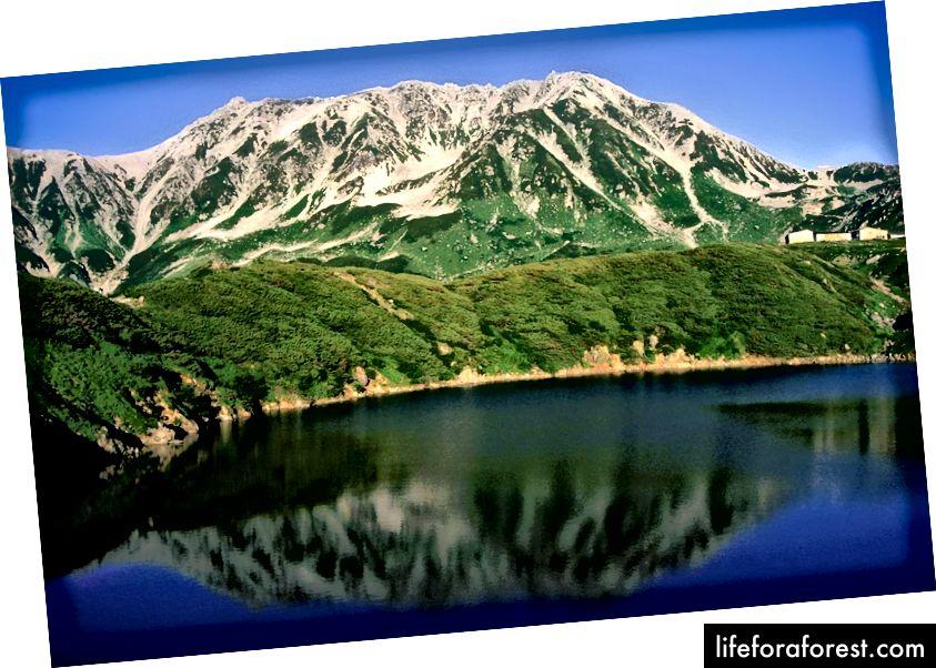 Mount Tate, Toyama. Zdroj obrázku: Alpsdake přes Wikimedia Commons.