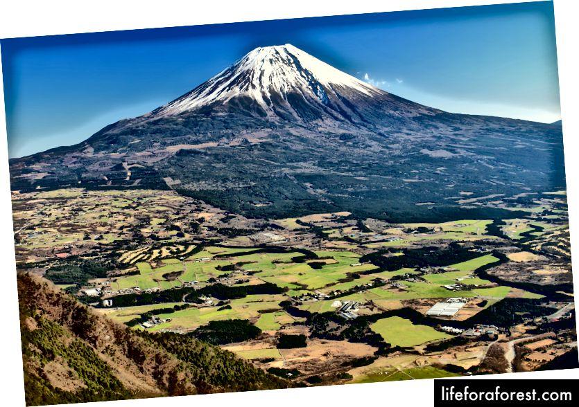 Fuji tog'i, Shizuoka. Rasm manbasi: Alp tog'lari (Vikipediya).