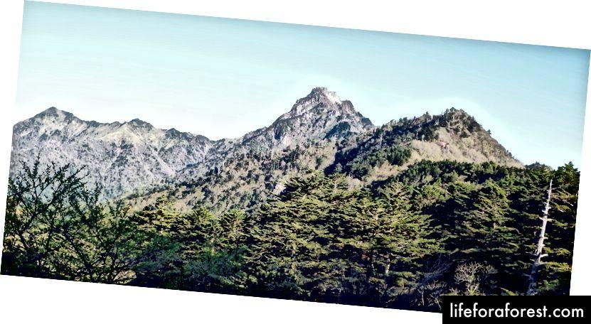 Mount Ishizuchi, Ehime. Zdroj obrázku: Dokudami prostřednictvím Wikimedia Commons.