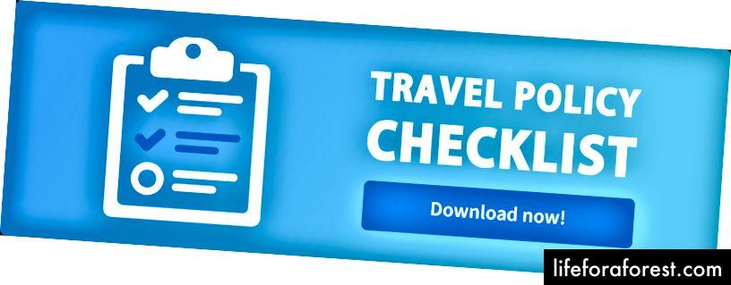 Travelstop – 회사 여행 정책 점검표 템플릿