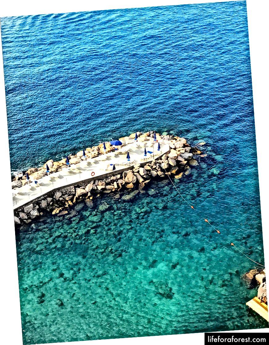 Privat strand på Hotel Parco dei Principe di Sorrento, SORRENTO