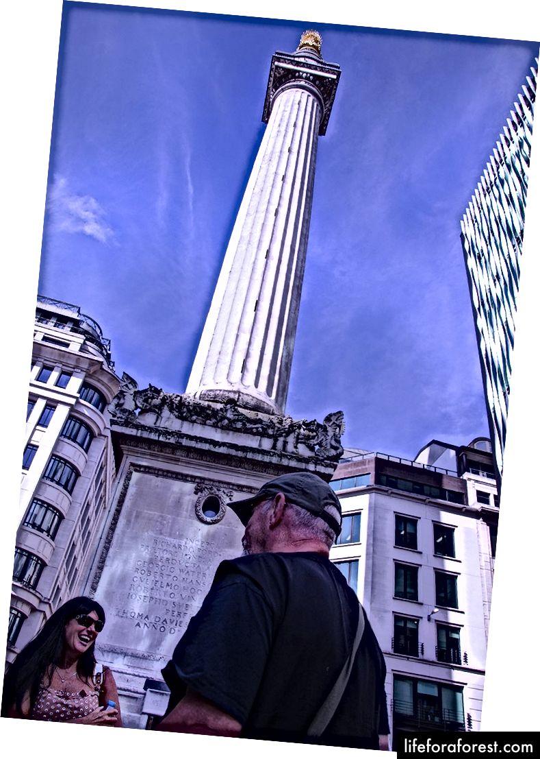 Monumentet til den store brannen i London, Fish Street Hill.