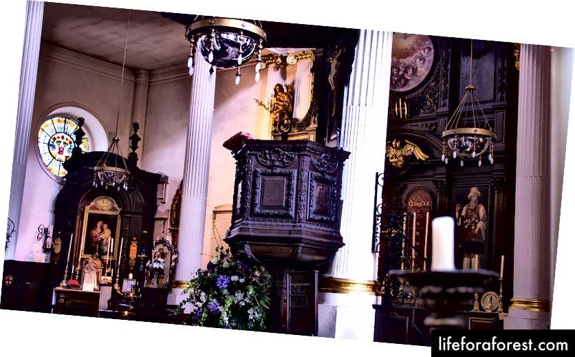 Interiøret i St. Magnus-the-Martyr, som T.S. Eliot likte både for form og funksjon.