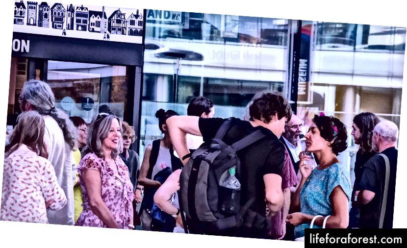 Museum of London, London Wall. A Journey with the Waste Land Group, samle, telle hverandre, smil og ta turen mot British Library.