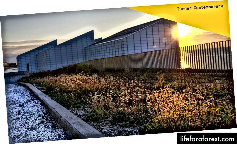 Turner Contemporary, Margate. Dibina di tapak di mana J.M.W. Turner bertugas ketika melawat bandar.