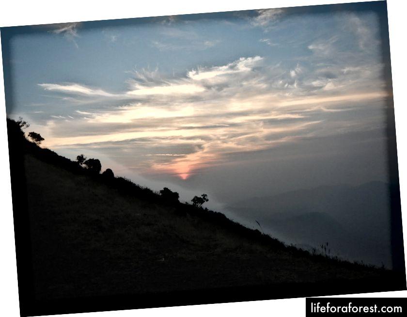 Východ slunce z pohledu