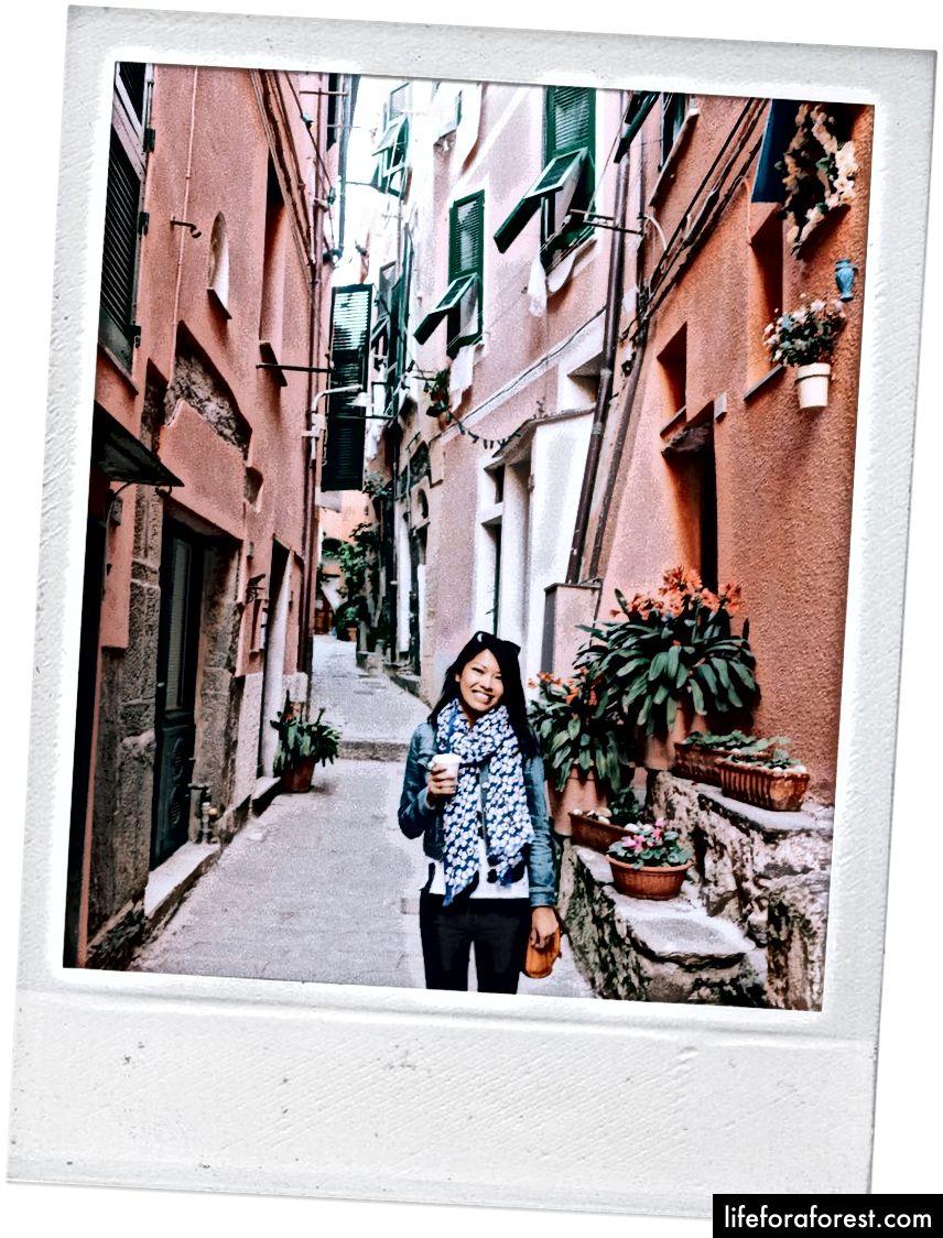 Con đường đến lối đi bộ đường dài - Vernazza.