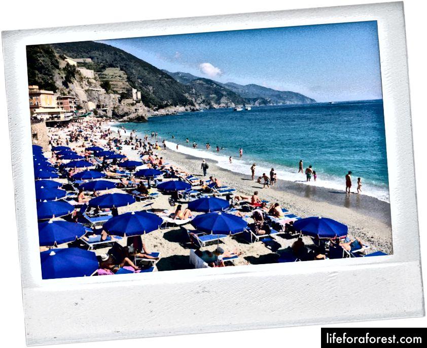 Bãi biển ở Monterosso