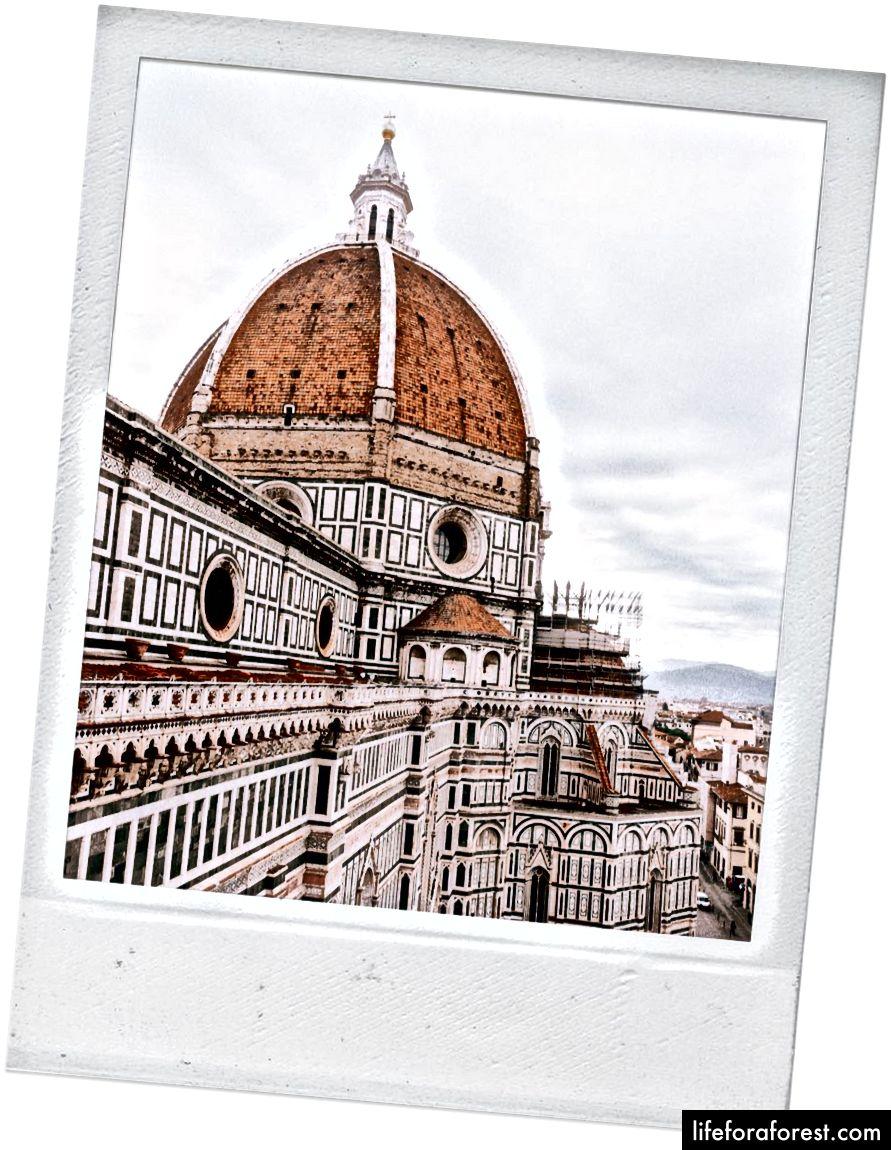 Quang cảnh của Duomo từ Campanile di Giotto.