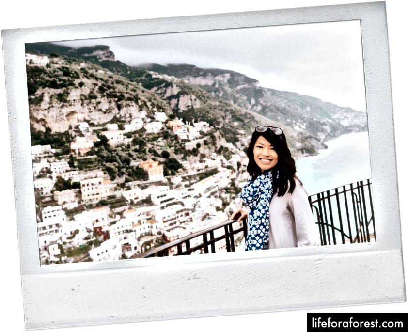 Quang cảnh của Positano gần Airbnb của chúng tôi.