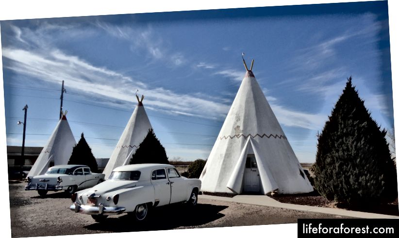 The Wigwam Motel di Holbrook, Arizona | Foto © Rebecca Pavlik