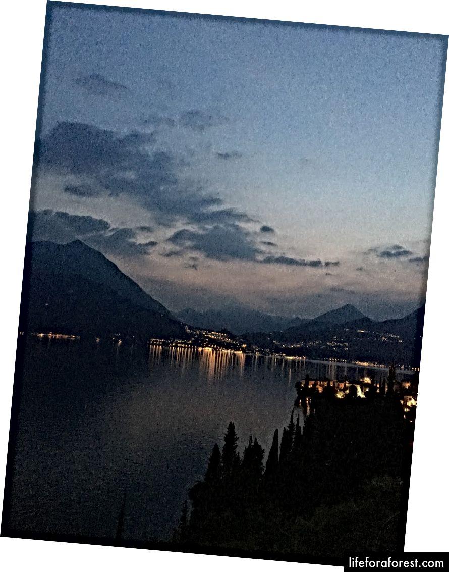 Hoàng hôn hồ Como