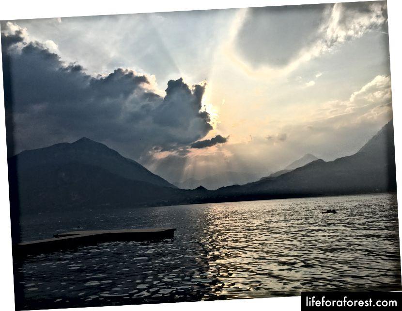Matahari terbenam lagi di Danau Como