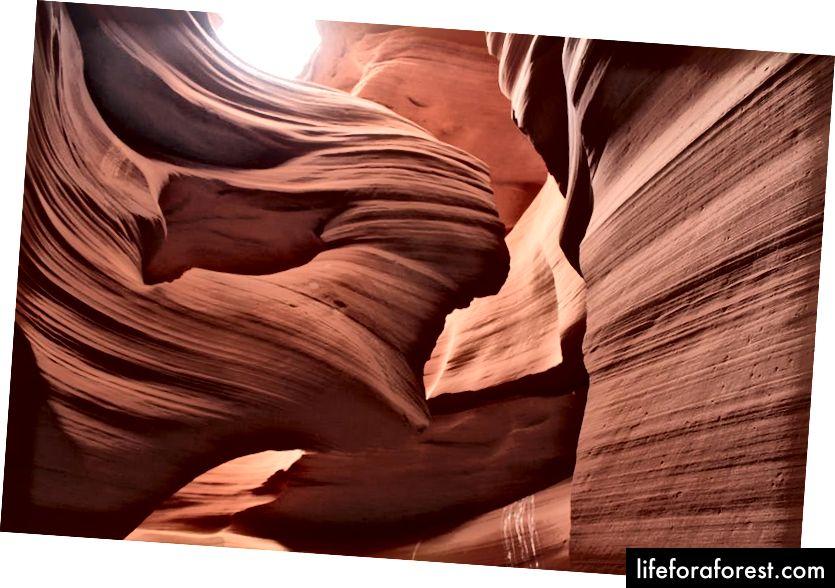 Pembentukan Pocahontas di Antelope Canyon