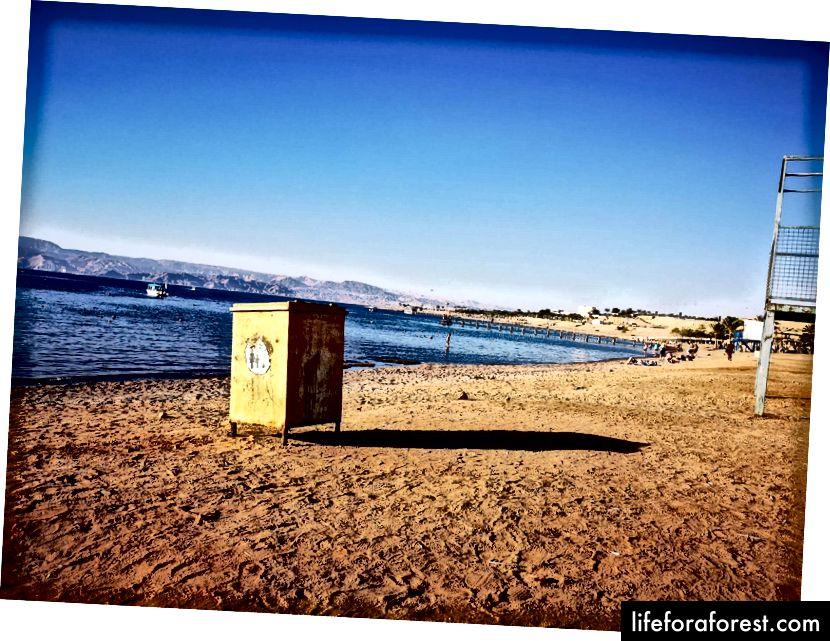 Stranden ved Rødehavet i Jordan. Foto av Alis Monte [CC BY-SA 4.0], via Connecting the Dots