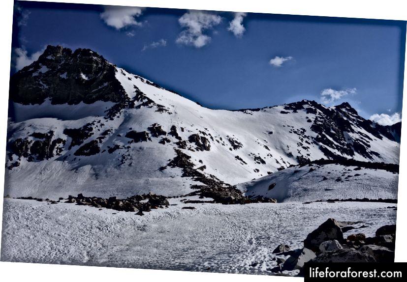 Dốc phía bắc của đèo Glen (chúng tôi đã đi xuống mặt này)