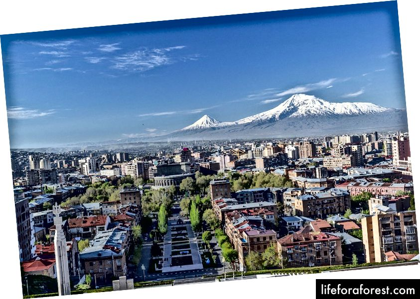 Yerevan City View fra Cascade