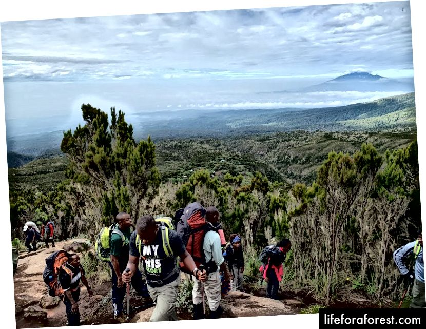 Núi Meru ở góc trên bên phải. Ảnh Tín dụng: Omobolaji Badmus