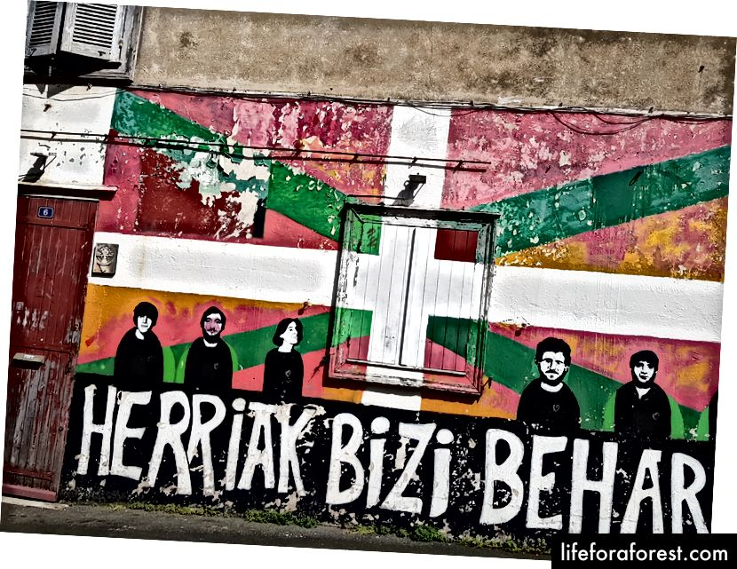 Bendera Basque. Kata-kata Basque.