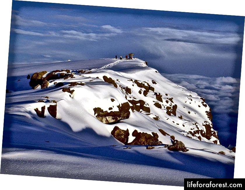 Vrh Uhura na vrhu vulkana Kibo - Foto od Chris 73