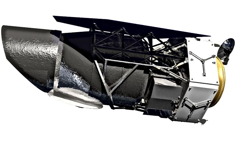 Una versione proposta più vecchia di WFIRST, risalente al 2019. Da allora, il telescopio ha attraversato un paio di iterazioni poiché i suoi obiettivi scientifici sono cambiati. Credito d'immagine: NASA.