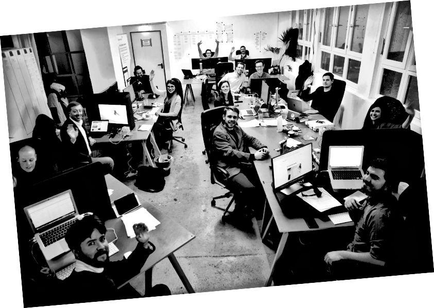 Team Morressier på arbejde