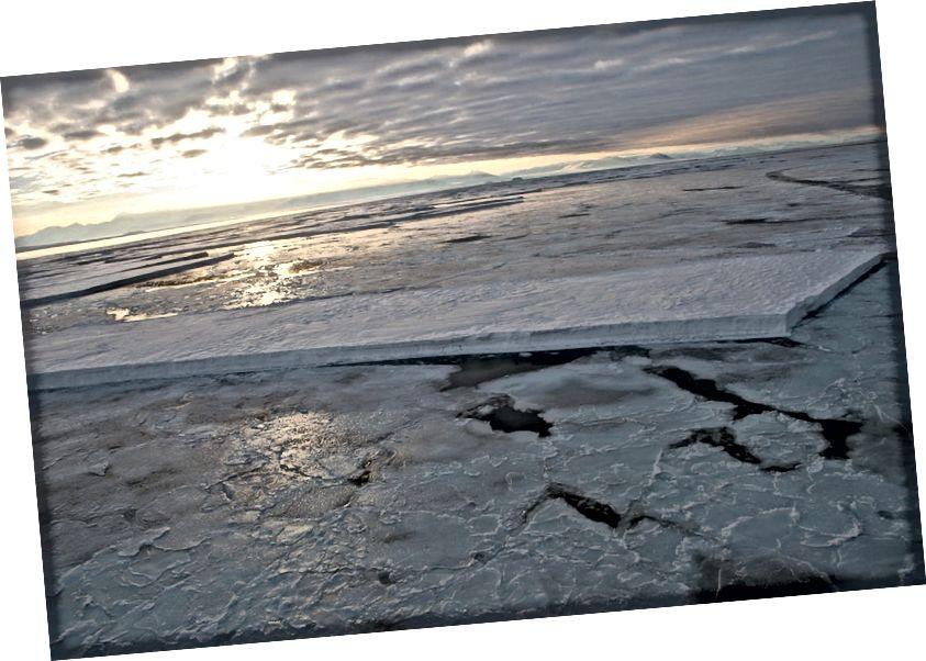 McMurdo Sound lód morski autorstwa Bruce McKinlay, Flickr cc