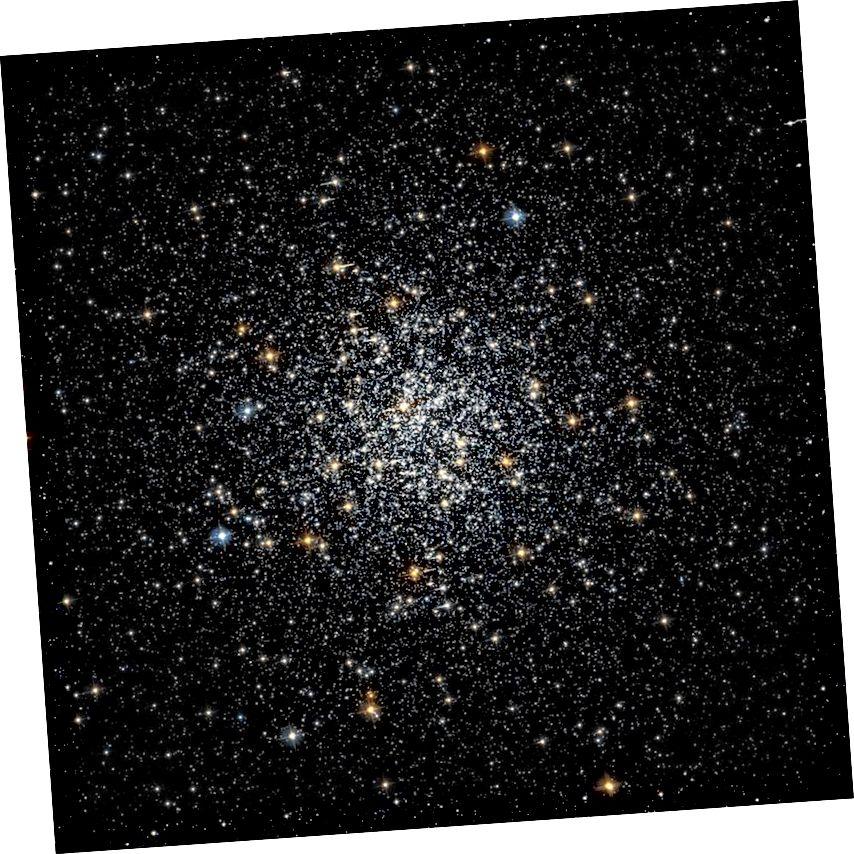 El clúster global Messier 69 és altament inusual per haver estat increïblement antic, amb només un 5% de l'edat actual de l'Univers, però també té un contingut en metall molt alt, amb un 22% de la metal·licitat del nostre Sol. (ARXIU DE LEGACIA HUBBLE (NASA / ESA / STSCI), VIA HST / WIKIMEDIA USUARI COMÚ USUARI RRRR FABIAN)