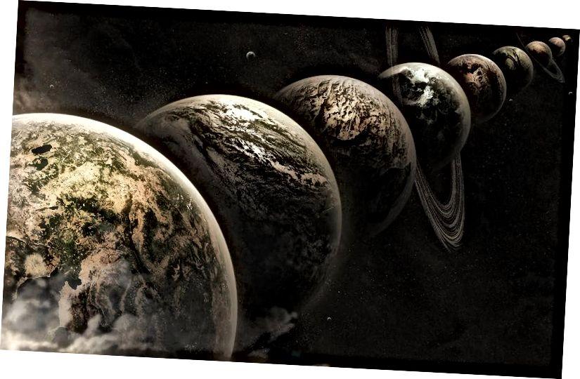 Die Multiversum-Idee besagt, dass es eine willkürlich große Anzahl von Universen wie unsere gibt, die in unser Multiversum eingebettet sind. Es ist möglich, aber nicht notwendig, dass andere Taschen innerhalb des Multiversums existieren, in denen die Gesetze der Physik unterschiedlich sind.