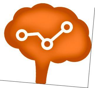 Ein Gehirn, das Datenwissenschaft betreibt. Bildnachweis: Brain von Matt Wasser vom Noun Project