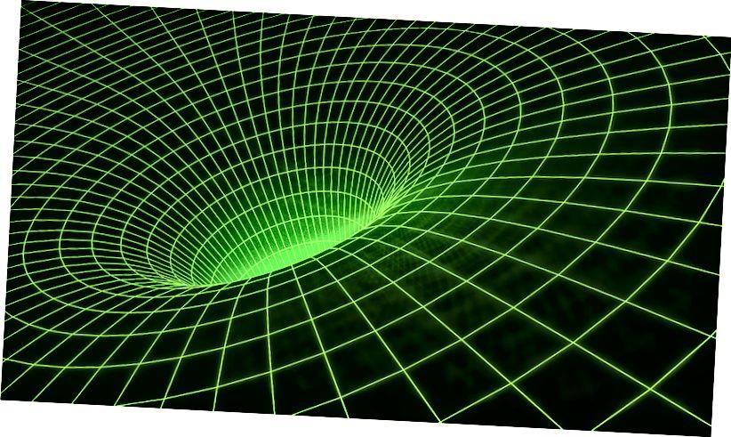 Ілюстрацыя моцна выгнутага касмічнага часу. Крэдыт малюнка: фота ў адкрытым доступе карыстальніка Pixabay JohnsonMartin.