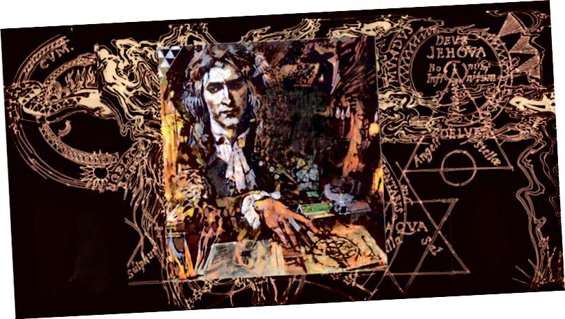 Ein Porträt von Isaac Newton Moonlighting als Alchemist (Volle Anerkennung an den Künstler Barron Storey)