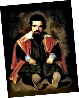 Ein Gemälde eines Zwergs aus der Mitte des 17. Jahrhunderts. Anerkennung.