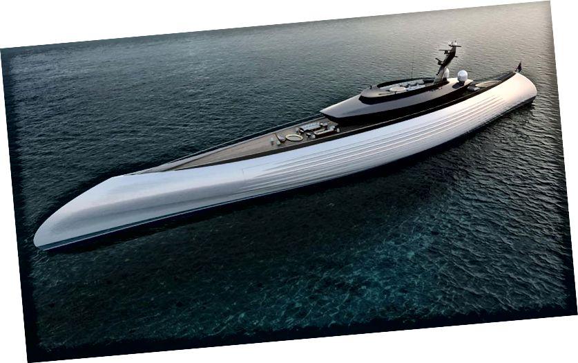 Koncept spoločnosti Oceanco Tuhura Superyacht
