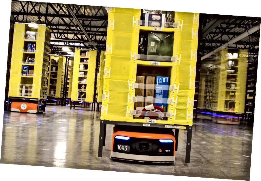מחסן הרובוטיקה של אמזון