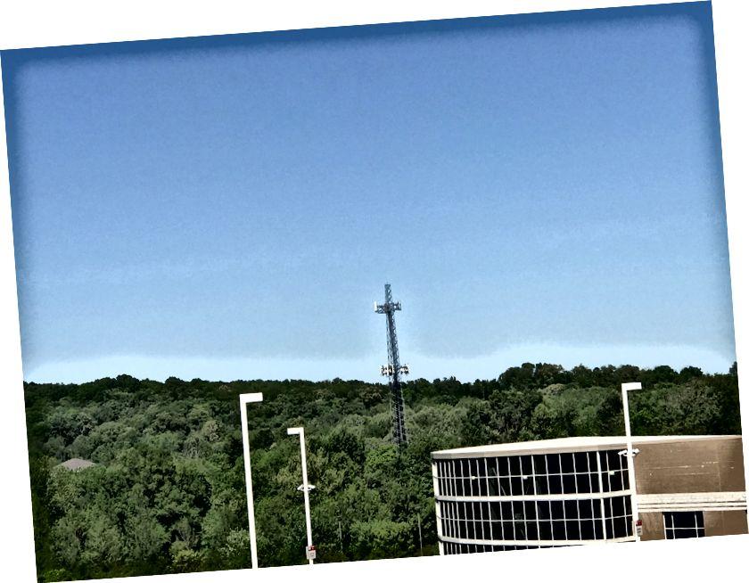 Radioantenne in der Nähe der Southeast Missouri State University