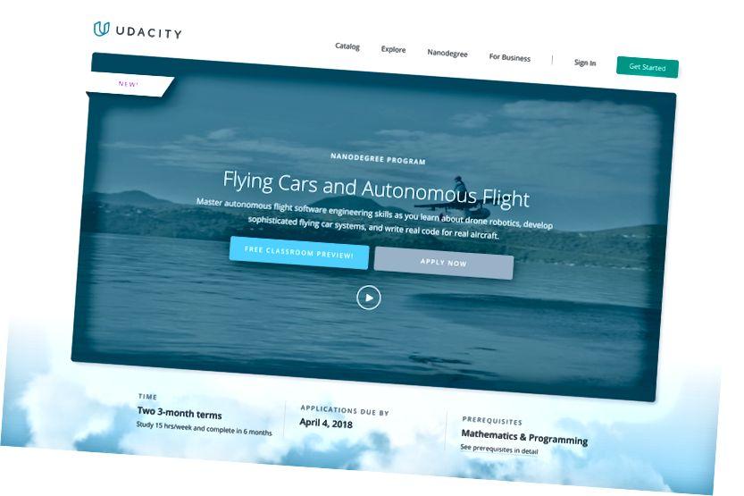 Vzdelávací program Udacity Flying Car online