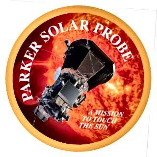 NASAs officielle insignier af Parker Solar Probe. Kredit: NASA / APL