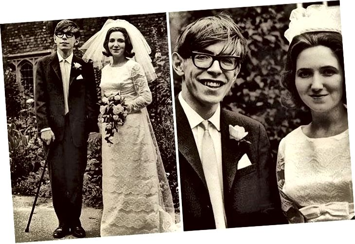 Stephen Hawking amb Jane Wilde