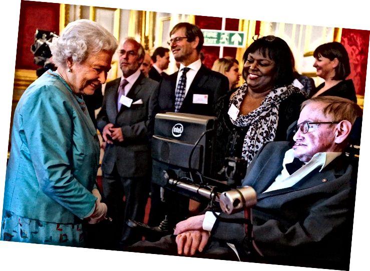 Stephen Hawking amb Isabel II