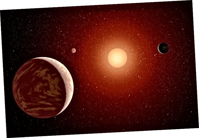 Планеты вакол меншай, прахалоднай і больш стабільна гарэлай зоркі, чым у нас. Крэдыт малюнкаў: NASA / JPL-Caltech, праз http://www.nasa.gov/multimedia/imagegallery/image_feature_2087.html.