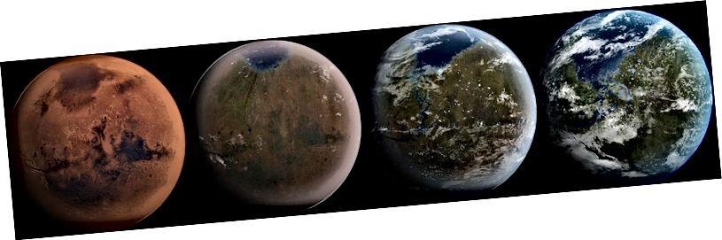 Магчымы шлях для магчымай тэрапіі Марса будзе больш падобны на Зямлю. Крэдыт малюнка: англійская карыстальнік Вікіпедыі Ittiz, пад ліцэнзіяй cca-sa-3.0.