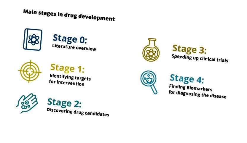 Hovedstadier i lægemiddeludvikling