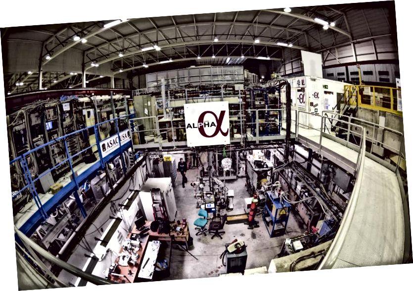 Супрацоўніцтва ALPHA наблізілася да любога эксперыменту для вымярэння паводзін нейтральнай антыматэрыі ў гравітацыйным полі. У залежнасці ад вынікаў, гэта можа адкрыць дзверы да неверагодных новых тэхналогій. Малюнак: Максіміліен Брыс / CERN.