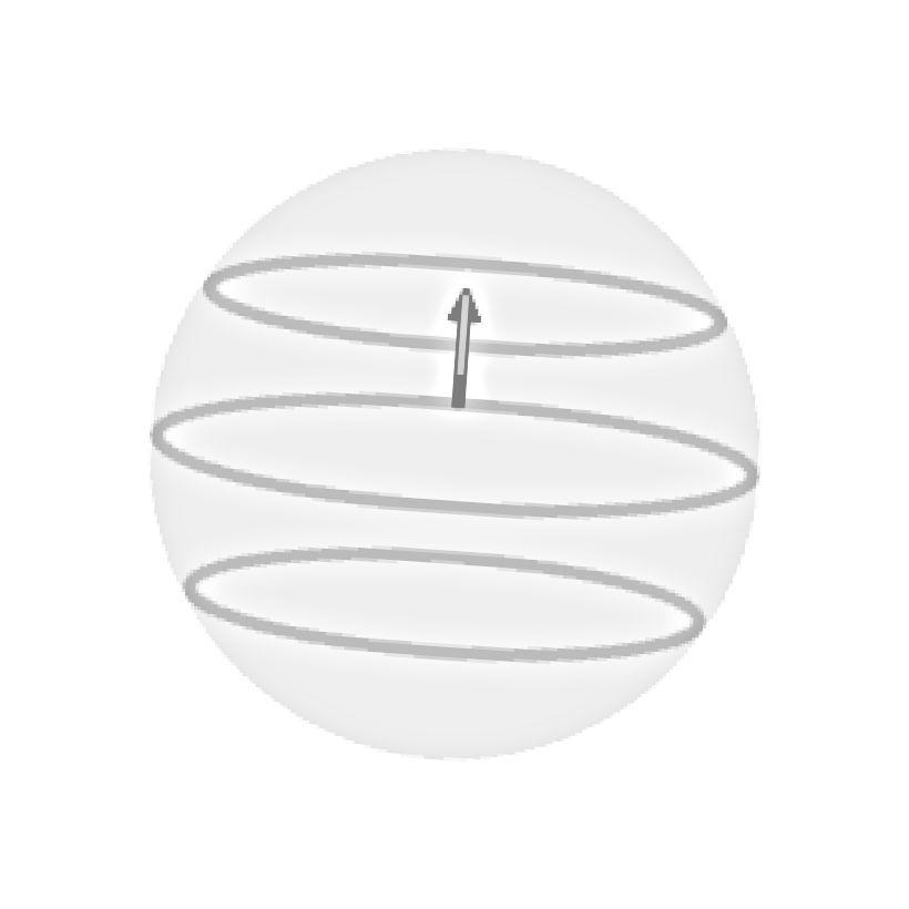 Die Auswirkungen der Coriolis-Kraft auf ein Pendel, das sich um 45 Grad nördlicher Breite dreht. Beachten Sie, dass das Pendel zwei volle Umdrehungen der Erde benötigt, um eine einzige vollständige Umdrehung in diesem Breitengrad durchzuführen. (CLEON TEUNISSEN / CLEONIS.NL)