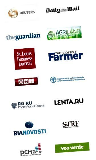 FactorGMO zeigt ihre Presse. Dies sind Logos, die auf ihrer Medienberichterstattungsseite hervorgehoben sind: http://factorgmo.com/media-coverage/