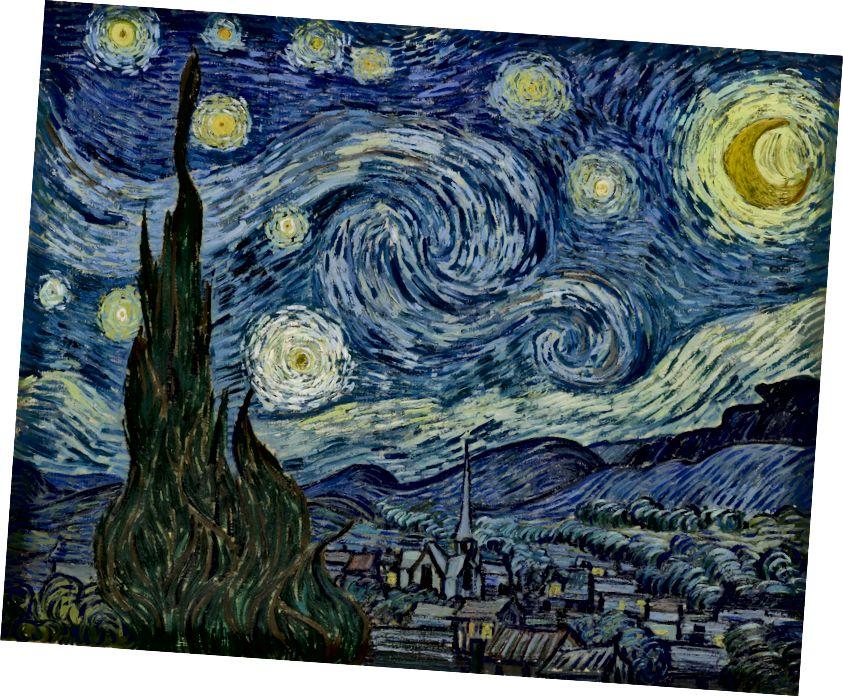 A Starry Night, Vincent Van Gogh, 1889.
